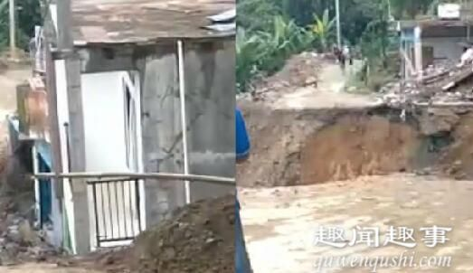 整栋房子突然下沉10秒后消失不见 村民拍下可怕瞬间现场视频令人惊悚