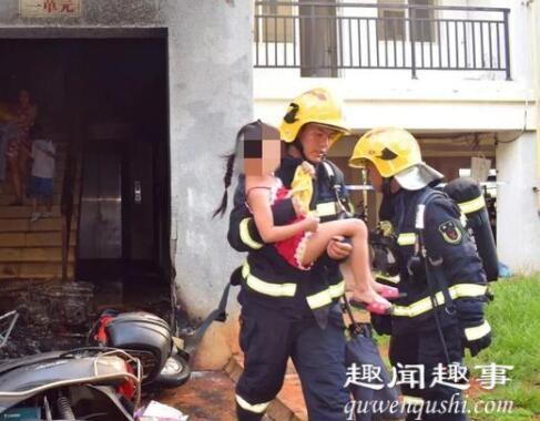 消防员飞身挡刀救下被劫持男童 实在是太惊险了