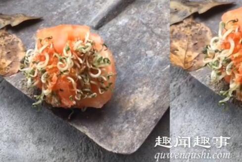 近日,四川一女子早上掰了个番茄没在意,过了2小时后一看,眼前一幕让她当场懵了